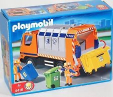 Playmobil #4418 Recycling Garbage Truck w/bins Rare Retired NIB