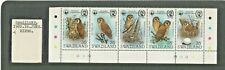 More details for swaziland wwf 1982 owl birds strip of 5v with traffic lights mnh sg:399/403