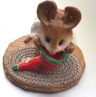 Wee Forest Folk  M-142 Chris Mouse Stocking - FREE SAME DAY shipping US SELLER