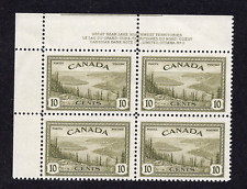 Canada #269 10 Cent Olive Great Bear Lake Peace Issue Plate Block Plate 2 MNH