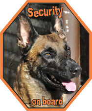 Autoaufkleber Malinois - Security