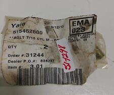 """YALE 7/16"""" CYL M BOLT 515462800 NIB"""