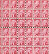 Full sheet of 100 #1033 Thomas Jefferson Mint Nh Og