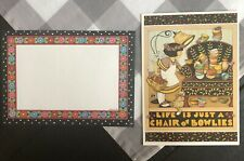 Mary Engelbreit 5x7 Greeting Card - Life Is Just A Chair Of Bowlies