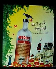 Absolut Vodka Ruby Red Distillery Color Birds Paper Ad