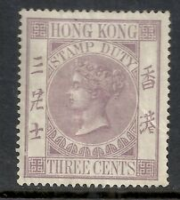 Hong Kong stamps 3cents Fiscal stamp  MLH  VF