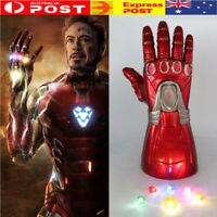 2019 Iron Man Nano LED Gloves Thanos Infinity Gauntlet Avengers Endgame Toy Gift
