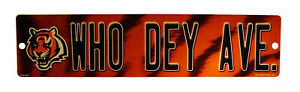 """Cincinnati Bengals 16"""" Street Sign for garage, office, man cave or any wall"""