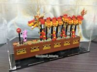 Display case for Lego Chinese New Year Dragon Dance 80102( AUS Top Rated Seller)