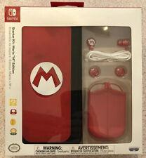 "PDP Nintendo Switch Starter Kit - Mario ""M"" Edition - Nintendo Switch NEW SEALED"