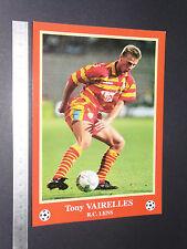 RARE T. VAIRELLES RC LENS RCL BOLLAERT SANG & OR FOOTBALL CPA FRANCE 1996-1997