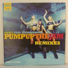 "D.O.N.S.Feat.Technotronic–Pump Up The Jam (Remixes)(12"" Maxi 33 T Promo)"