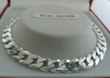 Sterling Silver Gents  Solid Curb Bracelet. 7 Grammes. 8.5 inch. Hallmarked.