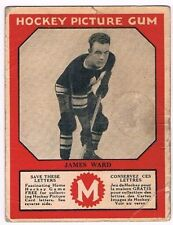 1933-34 V252 Canadian Gum Hockey Card #49 Jimmy Ward RC (Good)