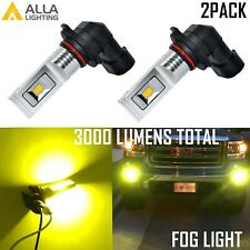 Alla Lighting LED H10 9145 3000K Gold Yellow LED Fog Light Lamp Bulb Replacement