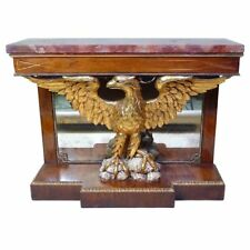 English Regency Style Rosewood Eagle Console Pier Table 19th century