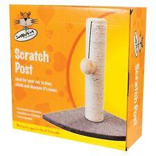 Cat Kitten Corner Sisal Scratching Pole Post Pet Toy Scratcher Play Activity UK