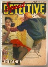 D596 Speed Detective Feb. 1943 Vintage Pulp Magazine