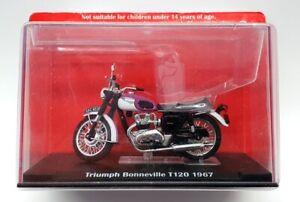 Altaya 9cm Long Diecast AL1609B - 1967 Triumph Bonneville T120 - Black/Purple