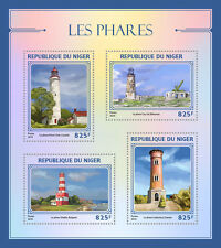 Niger 2016 MNH Lighthouses 4v M/S Point Clark Lighthouse Architecture Stamps