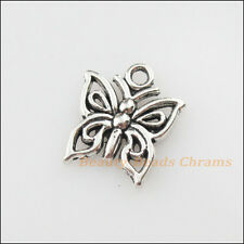 10Pcs Tibetan Silver Tone Lovely Tiny Butterfly Charms Pendants 12.5x15mm