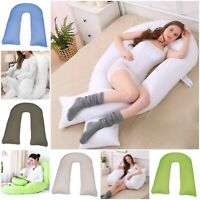 9Ft U Body/Bolster Support Orthopedic Maternity Pregnancy Support Pillow OR Case