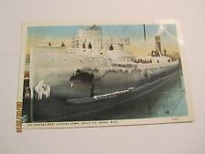 Ice Covered Boat Locking Down, Sault Ste Marie, Mich by American Art Colored