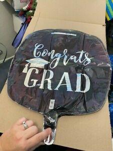 """Congrats Grad 17"""" Foil Balloon New!"""