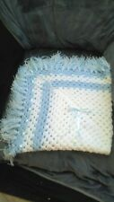 crochet hand made baby shawl