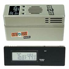 Cigar Oasis EXCEL 3.0 Electronic Cigar Humidifier& Caliber IV Digital Hygrometer