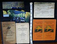 A11 7 Vintage Railway Railroad Manuals Manual Postcard Train Trains Misc. Lot