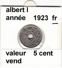 FB 2 )pieces d'albert I  5 cent 1923  belgique