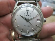 MERCEDES-BENZ AUTOMATIC WITH DATE STAINLESS SCREW BACK RUNING WRIST WATCH SILVER