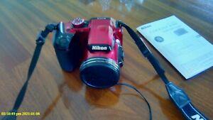 Nikon Coolpix B500 16MP Digital Compact Camera - Red