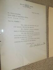 New ListingWilliam Randolph Hearst Signed Typed Letter From 1939 + 2 More Letters