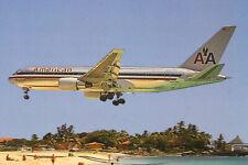 AK Airliner Postcard FLUGHAFEN ST.MAARTEN American B.767