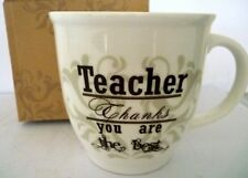 "TEACHER'S GIFT ""TEACHER THANKS YOU ARE THE BEST"" 440ML COFFEE/TEA MUG! BRAND NEW"