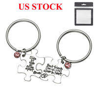 Best Friends Like US Stay Close Keyring Keychain Key Chain Ring Set Friendship