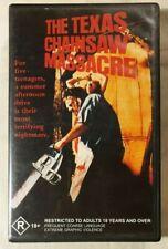 The Texas Chainsaw Massacre VHS 1974 Horror/Slasher Tobe Hooper Edwin Neal
