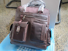 Piquadro Frame Brown Vertical Computer Bag with 2 handles & mob. case CA1745FR/M