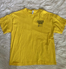 2010 Census United States Official 10 Minutes 10 Questions YELLOW TSHIRT  L