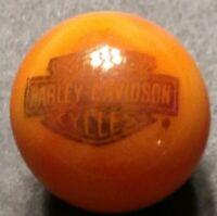 "Rare ® Harley Davidson Bar & Shield On Orange 7/8"" Marbleized Marble New"