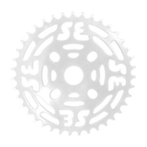 """SE Bikes BMX 1 Piece Chainring 39 Tooth for 1/2""""x1/8"""" Chain Steel WHITE"""