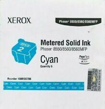 GENUINE XEROX Metered Phaser 8550 8560 MFP Cyan Ink 108R00706