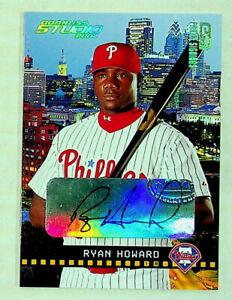 2004 Donruss Studio Ryan Howard #154 Autographed Baseball Card #078/100