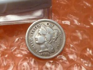 1881 3 Cent Nickel Higher Grade #1A