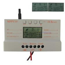 LCD 30A Solar Panel Battery Charge Controller Regulator 12V/24V Light&Timer UP