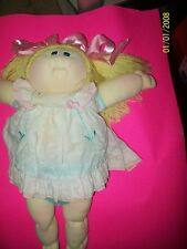 CABBAGE PATCH SOFT SCULPTURE DOLL  GIRL BLOND 80S BIG HEAD