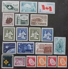 Canada 1965 & 1966 Complete Year Sets, X-Mas Tagged Included, MNH OG, 20 Stamps