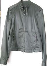 ELIE TAHARI Women's Dark Green Motorcycle style jacket Sz Medium Pre-owned